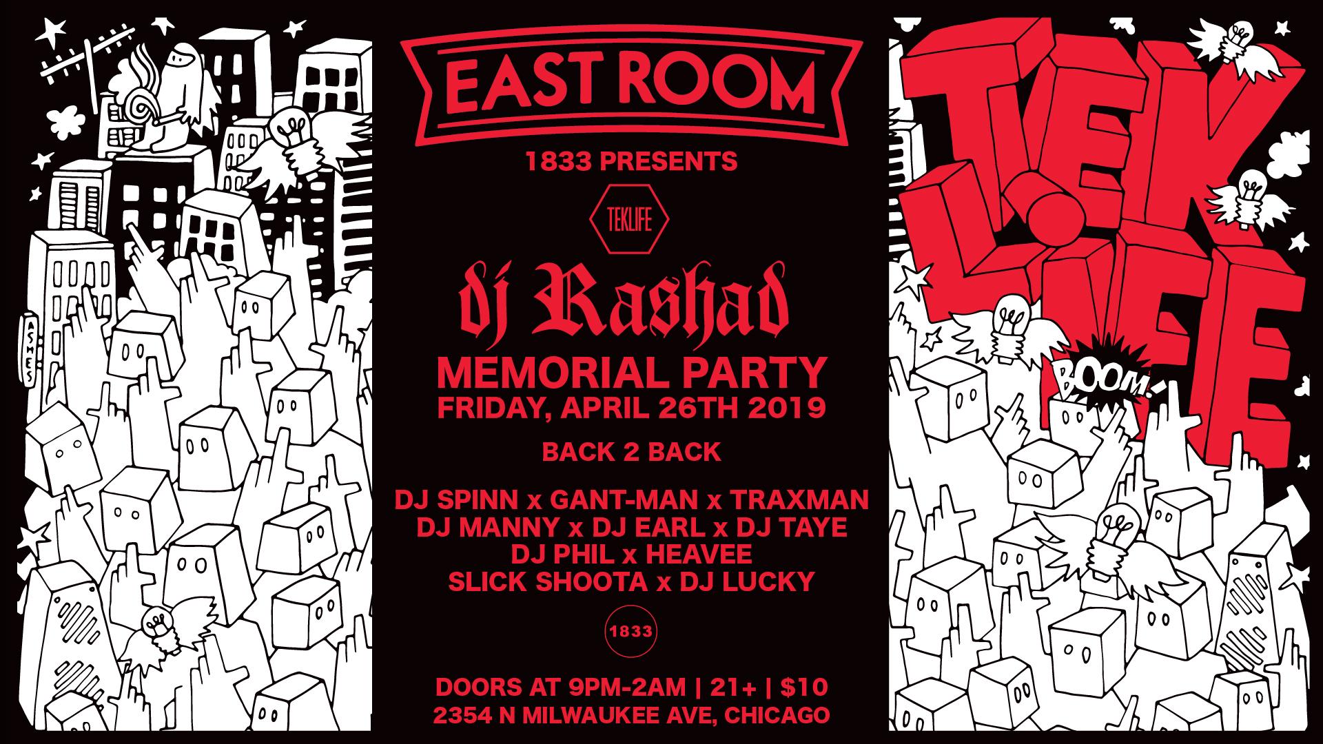 DJ RASHAD MEMORIAL PARTY